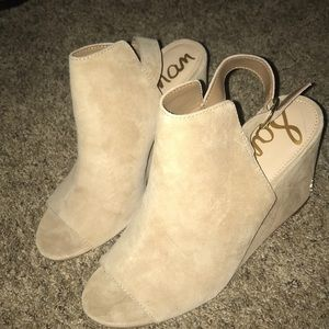 Sam Edelman suede wedges